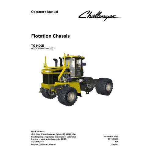 Manual do operador do chassi do Challenger TG8400B - Challenger manuais