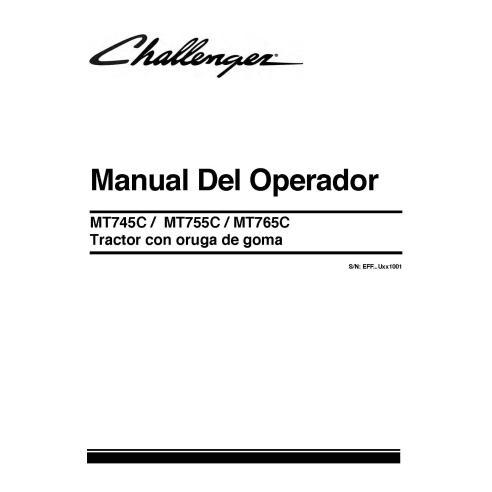 Challenger MT745C / MT755C / MT765C tractor operator's manual - Challenger manuals