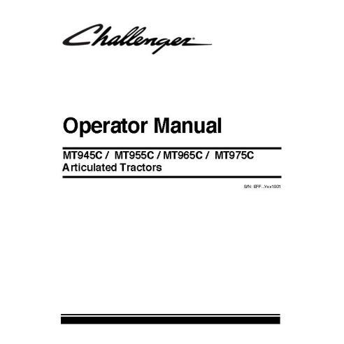Manual del operador del tractor Challenger MT945C / MT955C / MT965C / MT975C - Challenger manuales