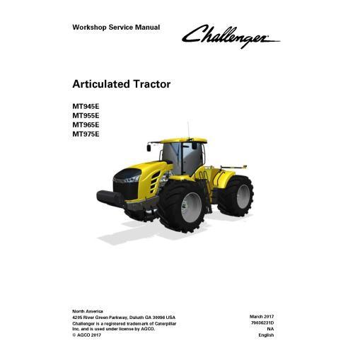 Manual de servicio del taller del tractor Challenger MT945E / MT955E / MT965E / MT975E - Challenger manuales