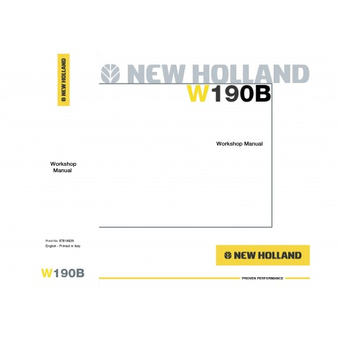 New Holland W190B wheel loader workshop manual-New Holland