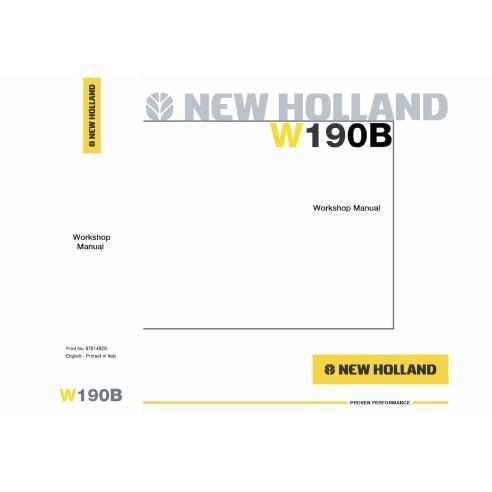 Manual de oficina da carregadeira de rodas New Holland W190B - New Holland Construction manuais