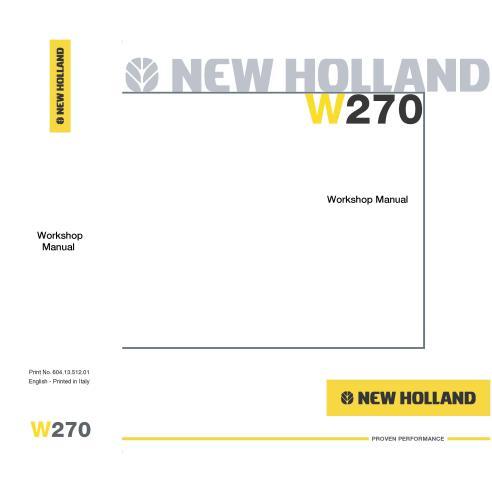 Manual de taller de la cargadora de ruedas New Holland W270 - Construcción New Holland manuales