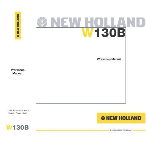 New Holland W130B wheel loader workshop manual-New Holland