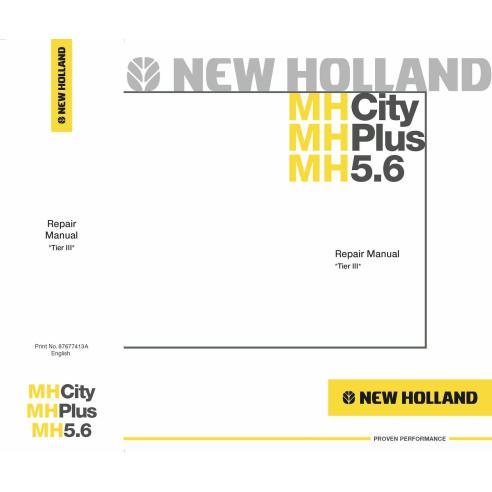 Manual de reparo de escavadeira New Holland MH5.6 - New Holland Construction manuais