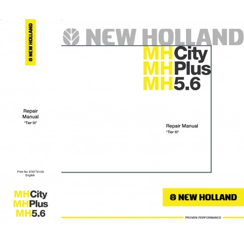 New Holland MH5.6 excavator repair manual - New Holland Construction manuals