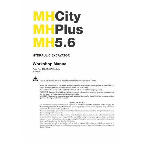 Manuel d'atelier de la pelle New Holland MH5.6 - Construction New Holland manuels