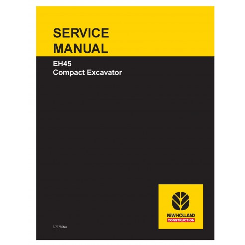 New Holland EH45 compact excavator service manual - New Holland Construction manuals