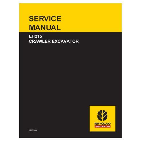 Manual de serviço da escavadeira sobre esteiras New Holland EH215 - New Holland Construction manuais