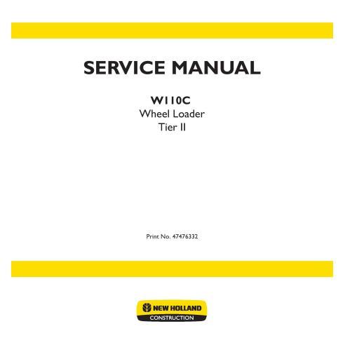 Manual de servicio de la cargadora de ruedas New Holland W110C - Construcción New Holland manuales