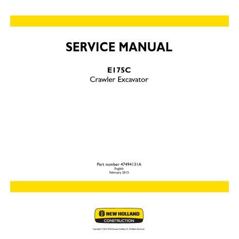 Manual de servicio de la excavadora de cadenas New Holland E175C - Construcción New Holland manuales