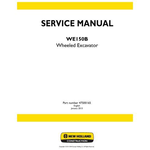 Manual de servicio de la excavadora de ruedas New Holland WE150B - Construcción New Holland manuales