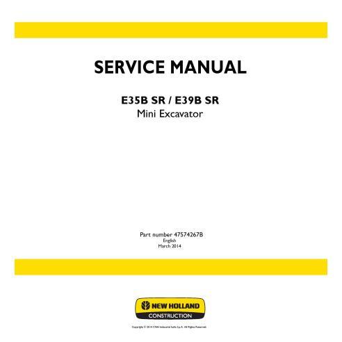 New Holland E35B SR / E39B SR mini excavator service manual
