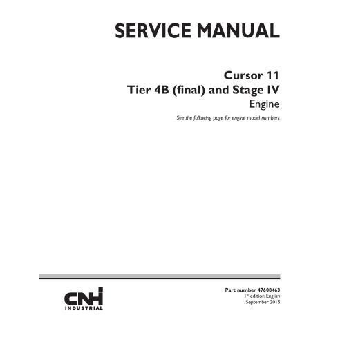 Manual de serviço do motor New Holland Cursor 11 - New Holland Construction manuais