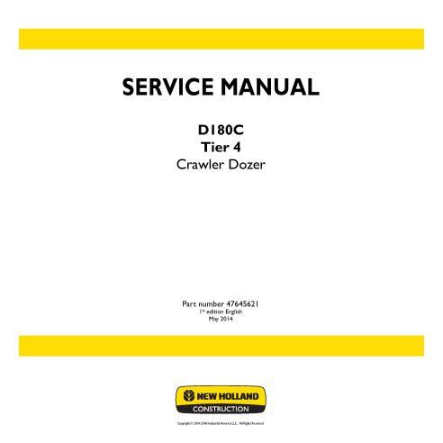 Manual de servicio de la topadora sobre orugas New Holland D180C Tier 4 - Construcción New Holland manuales