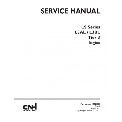 Manual de servicio del motor New Holland L3AL / L3BL Tier 3 - Construcción New Holland manuales
