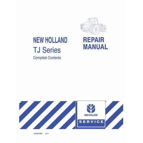 Manuel de réparation de tracteur New Holland TJ275, TJ325, TJ375 - Agriculture de New Holland manuels