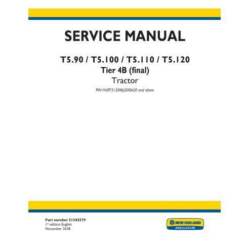 Manual de servicio del tractor New Holland T5.90 / T5.100 / T5.110 / T5.120 - Agricultura de New Holland manuales