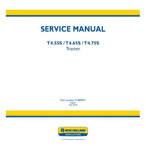 Manual de serviço do trator New Holland T4.55S / T4.65S / T4.75S - New Holland Agriculture manuais