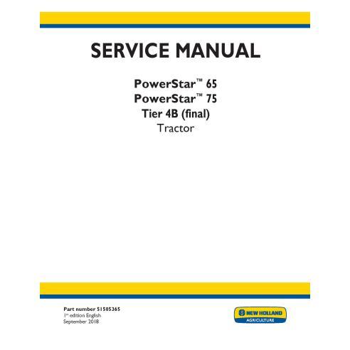 Manual de servicio del tractor New Holland PowerStar 65/75 - Agricultura de New Holland manuales