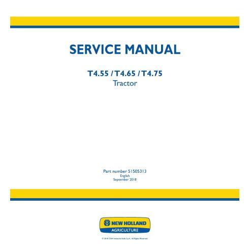 Manual de servicio del tractor New Holland T4.55 / T4.65 / T4.75 - Agricultura de New Holland manuales
