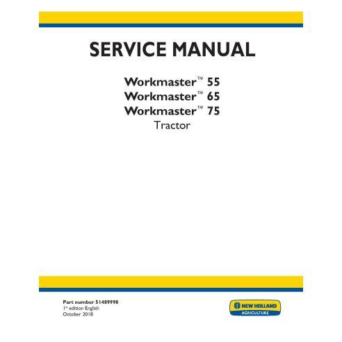 Manual de servicio del tractor New Holland Workmaster 55/65/75 - Agricultura de New Holland manuales