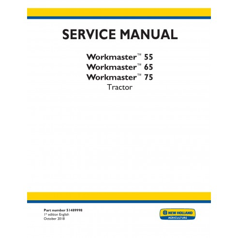 New Holland Workmaster 55 / 65 / 75 tractor service manual - New Holland Agriculture manuals