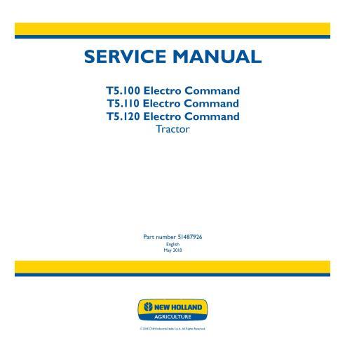Manual de servicio del tractor New Holland T5.100 / T5.110 / T5.120 Electro Command - Agricultura de New Holland manuales