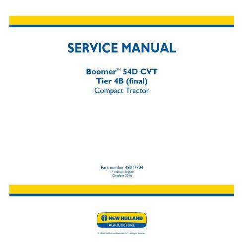 Manual de servicio del tractor compacto New Holland Boomer 54D CVT - Agricultura de New Holland manuales