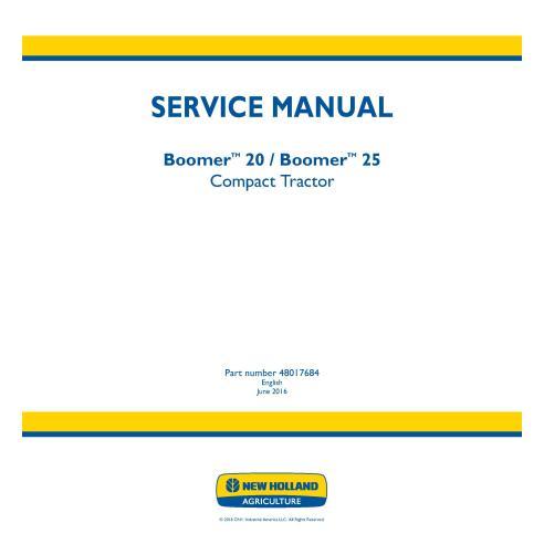 Manual de servicio del tractor compacto New Holland Boomer 20/25 - Agricultura de New Holland manuales