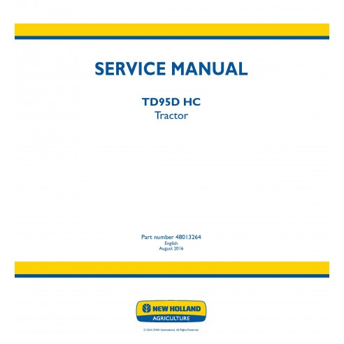 New Holland TD95D HC tractor service manual - New Holland Agriculture manuals