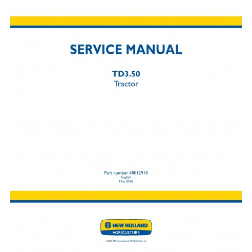 New Holland TD3.50 tractor service manual