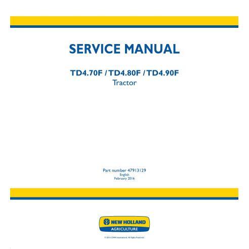 New Holland TD4.70F / TD4.80F / TD4.90F tractor service manual