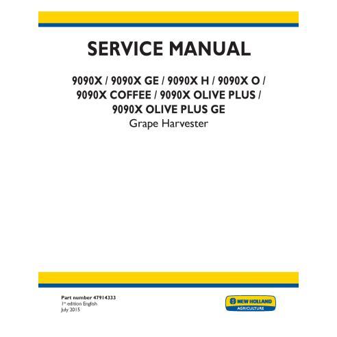 New Holland 9090X / 9090X GE / 9090X H / 9090X O / 9090X COFFEE / 9090X OLIVE PLUS / grape harvester service manual