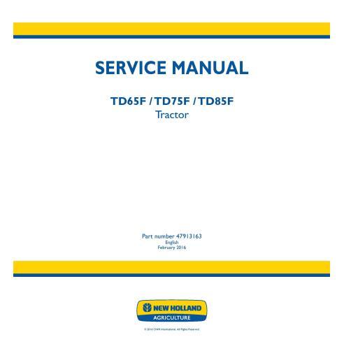 Manual de servicio del tractor New Holland TD65F / TD75F / TD85F - Agricultura de New Holland manuales