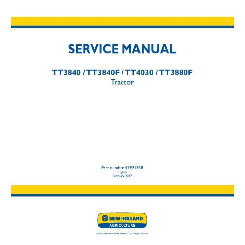 Manual de servicio del tractor New Holland TT3840 / TT3840F / TT4030 / 3880F - Agricultura de New Holland manuales