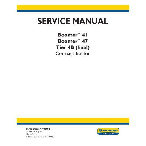 Manual de serviço do trator compacto New Holland Boomer 41/47 - New Holland Agriculture manuais