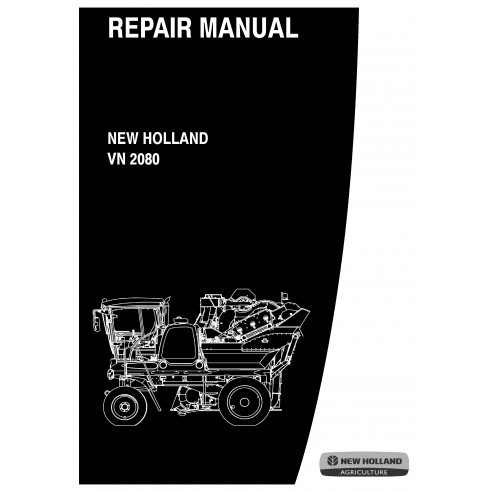 Manual de reparo de colheitadeira de uva New Holland VN 2080 - New Holland Agriculture manuais