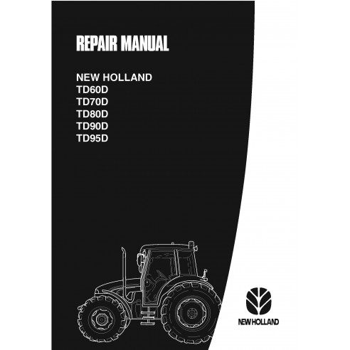 Manual de servicio del tractor New Holland TD60D / TD70D / TD80D / TD90D / TD95D - Agricultura de New Holland manuales