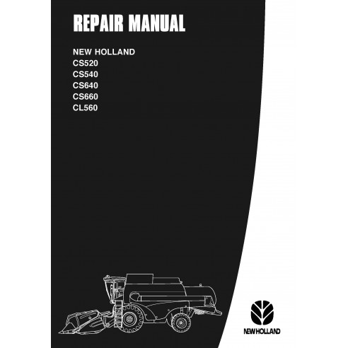 Manual de reparo da colheitadeira New Holland CS520 / CS540 / CS640 / CS660 / CL560 - New Holland Agriculture manuais