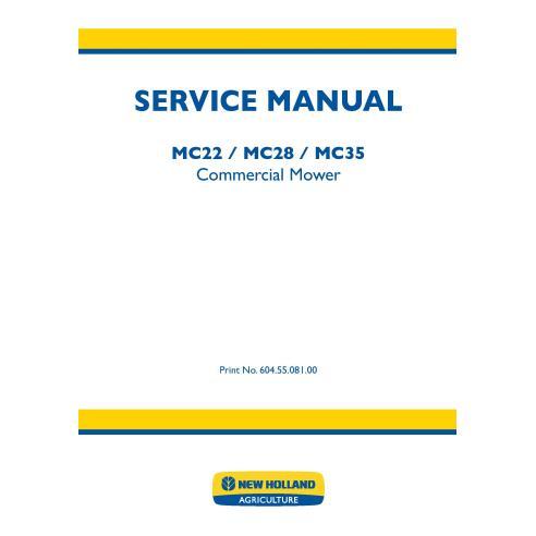 Manual de serviço dos motores comerciais New Holland MC22 / MC28 / MC35 - Motores comerciais manuais