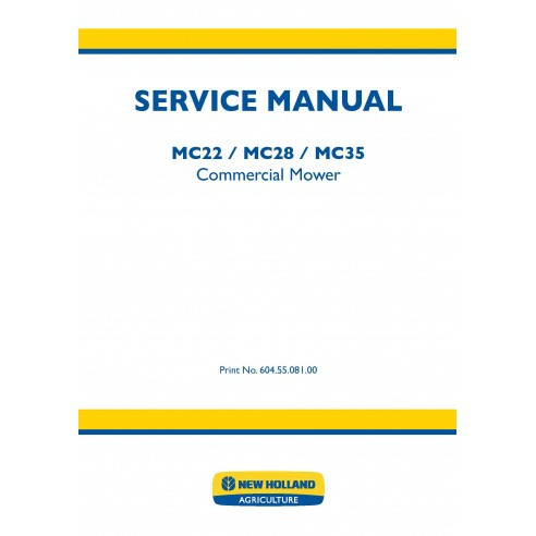 Manuel d'entretien des déménageurs commerciaux New Holland MC22 / MC28 / MC35 - Déménageurs commerciaux manuels
