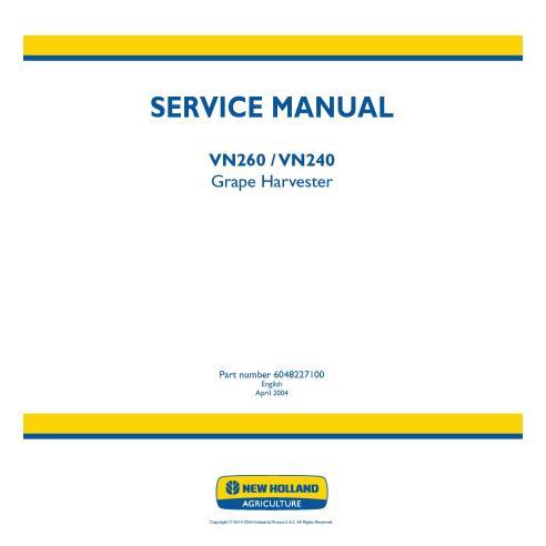 Manual de serviço da colheitadeira de uvas New Holland VN260 / VN240 - New Holland Agriculture manuais