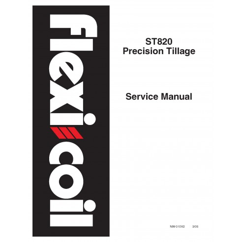 New Holland Flexi-Coil ST820 precision tillage service manual - New Holland Agriculture manuals