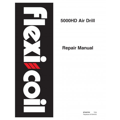 New Holland Flexi-Coil 5000HD air drill repair manual - New Holland Agriculture manuals