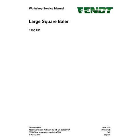 Manual de serviço de oficina enfardadeira Fendt 1290 UD - Fendt manuais