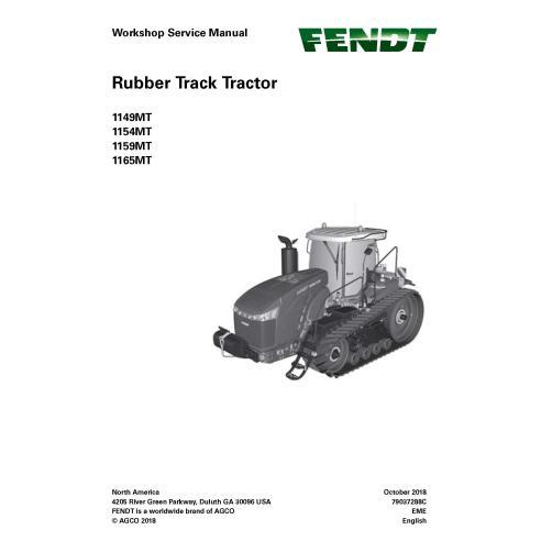 Manuel d'entretien de l'atelier du tracteur Fendt 1149MT / 1154 MT / 1159MT / 1165MT - Fendt manuels