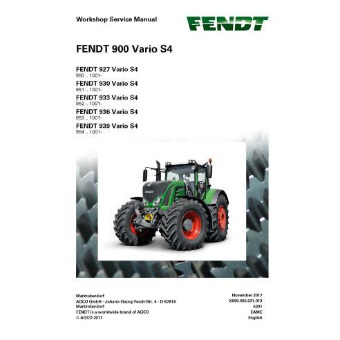 Manuel d'entretien de l'atelier de tracteur Fendt 900-927 / 930/933/946/939 - Fendt manuels