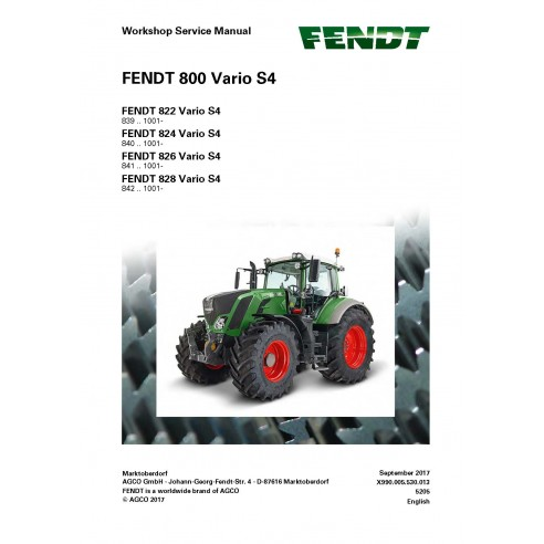 Fendt 800 - 822 / 824 / 826 / 828 tractor workshop service manual - Fendt manuals