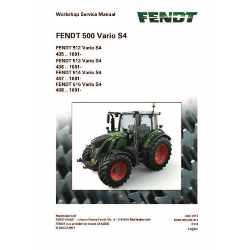 Fendt 500-512/513/5114/516 manual de servicio del taller del tractor - Fendt manuales